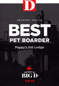 2015 Best of D Magazine Reader's Choice Award for Best Pet Boarder