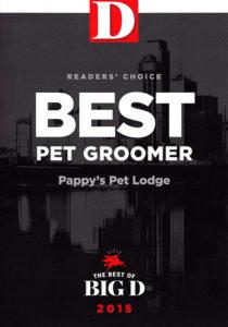 2015 Best of D Magazine Reader's Choice Award for Best Pet Groomer