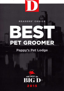 2015 Best of D Magazine Reader's Choice Award for Best Pet Groomer
